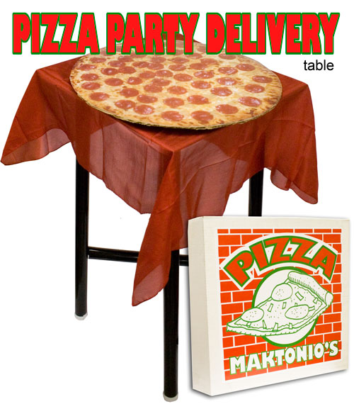 Pizza Delivery Table w/ DVD