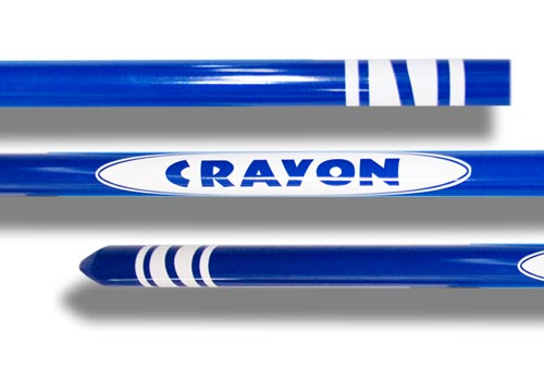 Appearing Crayon w/ Tip, Blue - 4 Feet