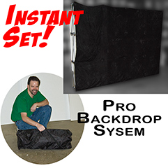 Pro Backdrop System, Black - Instant Set