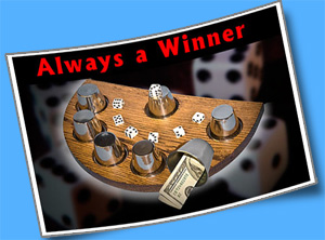 Always A Winner w/ Dice - Oak