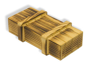 Pirate's Box - Burnt Wood