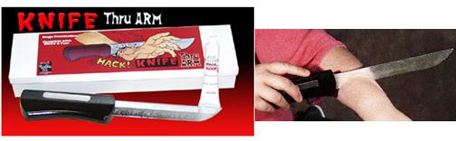 Knife Through Arm - MAK Boxed