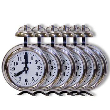 Multiplying Alarm Clocks, 6 - Stainless