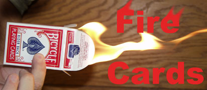 Fire Cards - Bicycle Poker - Card Magic Trick