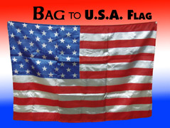 Bag to USA Flag