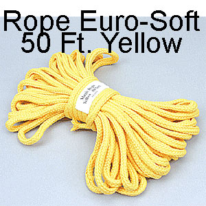 Rope Euro-Soft 50 Ft. Yellow