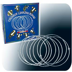 """Linking Rings 12"""" - Chrome, 8 Set"""