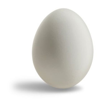 Rubber Egg, Superior - White