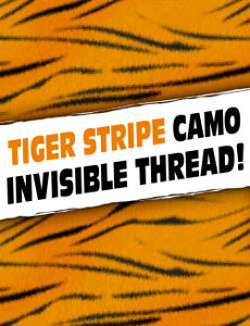 Invisible Thread, Tiger Stripe  - Blue