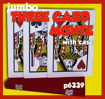 Three Card Monte w/ Case, Jumbo