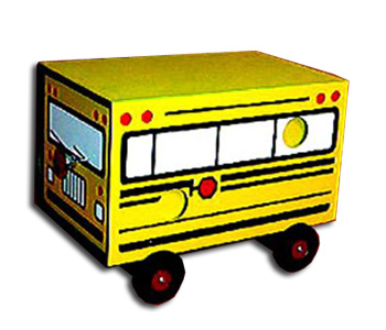 Drawer Box, Super Deluxe -  School Bus