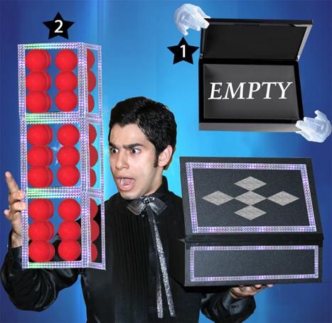 App. 3 Cubes from Empty Box - Tora