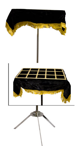 Appearing Table - ALU. W/Black Art Top