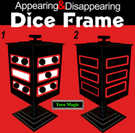 Appearing & Disappearing Dice Frame w/ DVD - Tora