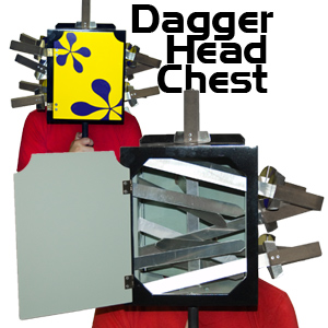 Dagger Head Chest, Wood - Frontier