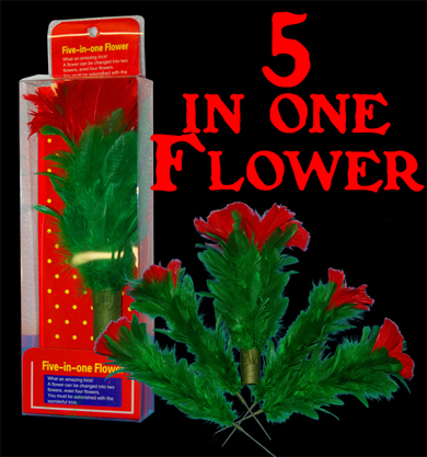Five in One Flower -Feather- Stage / Parlor Magic Trick
