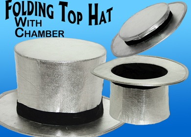 Folding Top Hat w/ Chamber - Silver