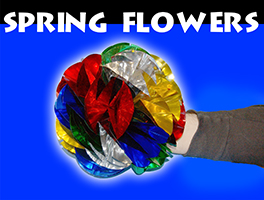 Spring Flowers Mylar, Medium 8 Inch