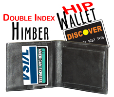 Himber Wallet - DOUBLE Index -Hip- Close Up Magic Trick