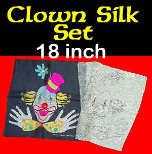 Clown Silk Set 18 inch - 2 Piece Set