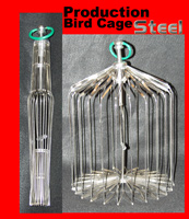 Production Steel Bird Cage 15""