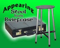 Appearing Stool from Briefcase