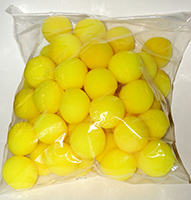 "Sponge Balls 1.5"" SS Yellow - BAG 50"