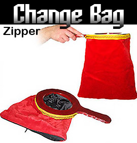 Change Bag Zipper, Red Euro