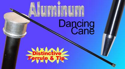 Dancing Cane - Black Aluminum